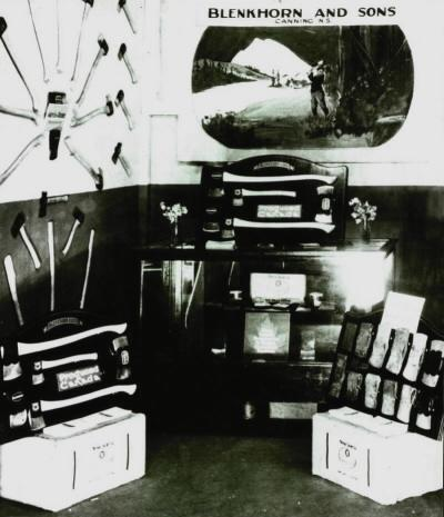 The display of products of the Blenkhorn Axe Factory