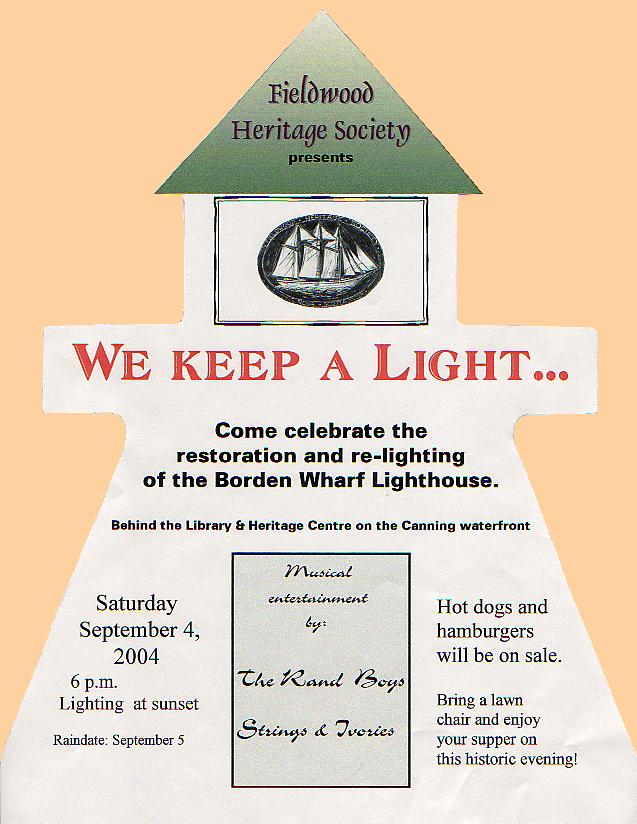 Canning lighthouse, poster for relighting celebration